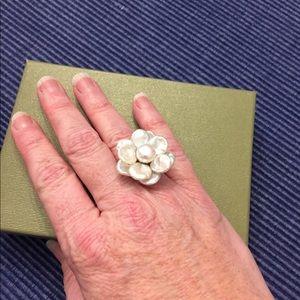 Honora Keshi Flower Sterling Ring Size 6 NIB